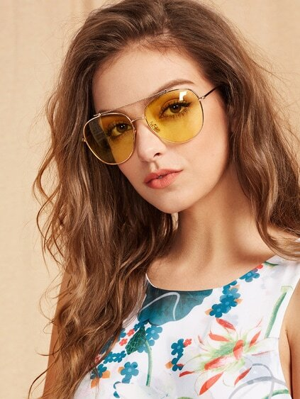 Top Bar Aviator Sunglasses