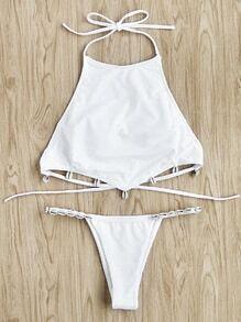 Ensemble de Bikini ras de cou avec garniture de coquille