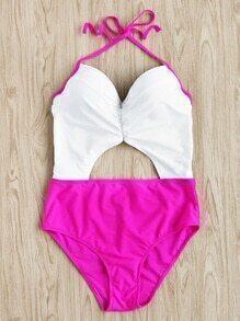 Sexy Bikini Set mit Doppeltonschnitt