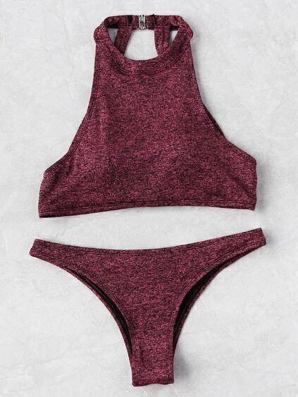Open Back Space Dye Bikini Set