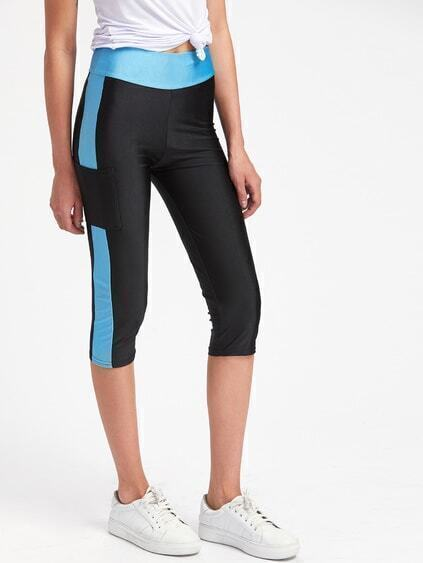 Leggings bicolore
