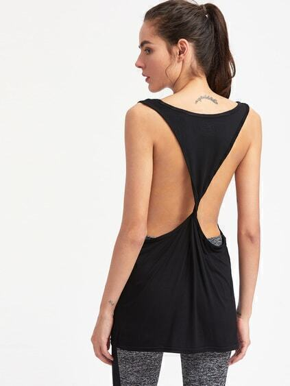 Active Twist Back Tank With Dropped Armhole