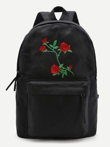 Sac à dos canevas brodé des fleurs