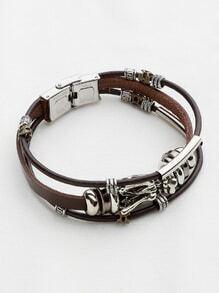 Dragon Detail Three Layer Retro Bracelet