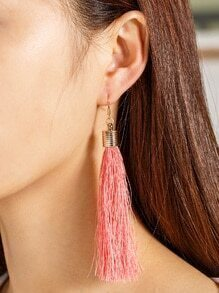 Boucles d'oreilles à larges gouttes décorées de franges