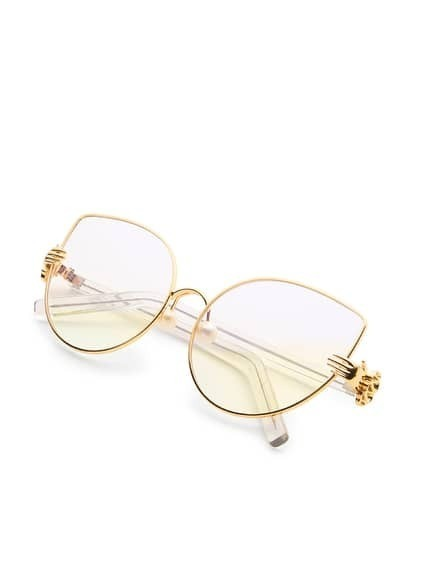 Faux Pearl Detail Cat Eye Sunglasses