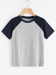 Tee shirt bicolore versicolore manche reglan