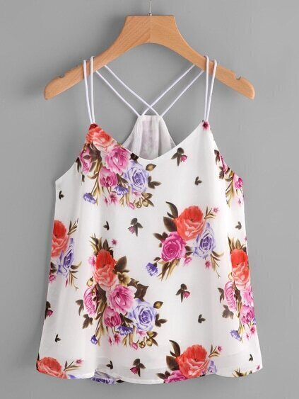Calico Print Cami Top