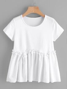 Frill Smocked Swing Tee