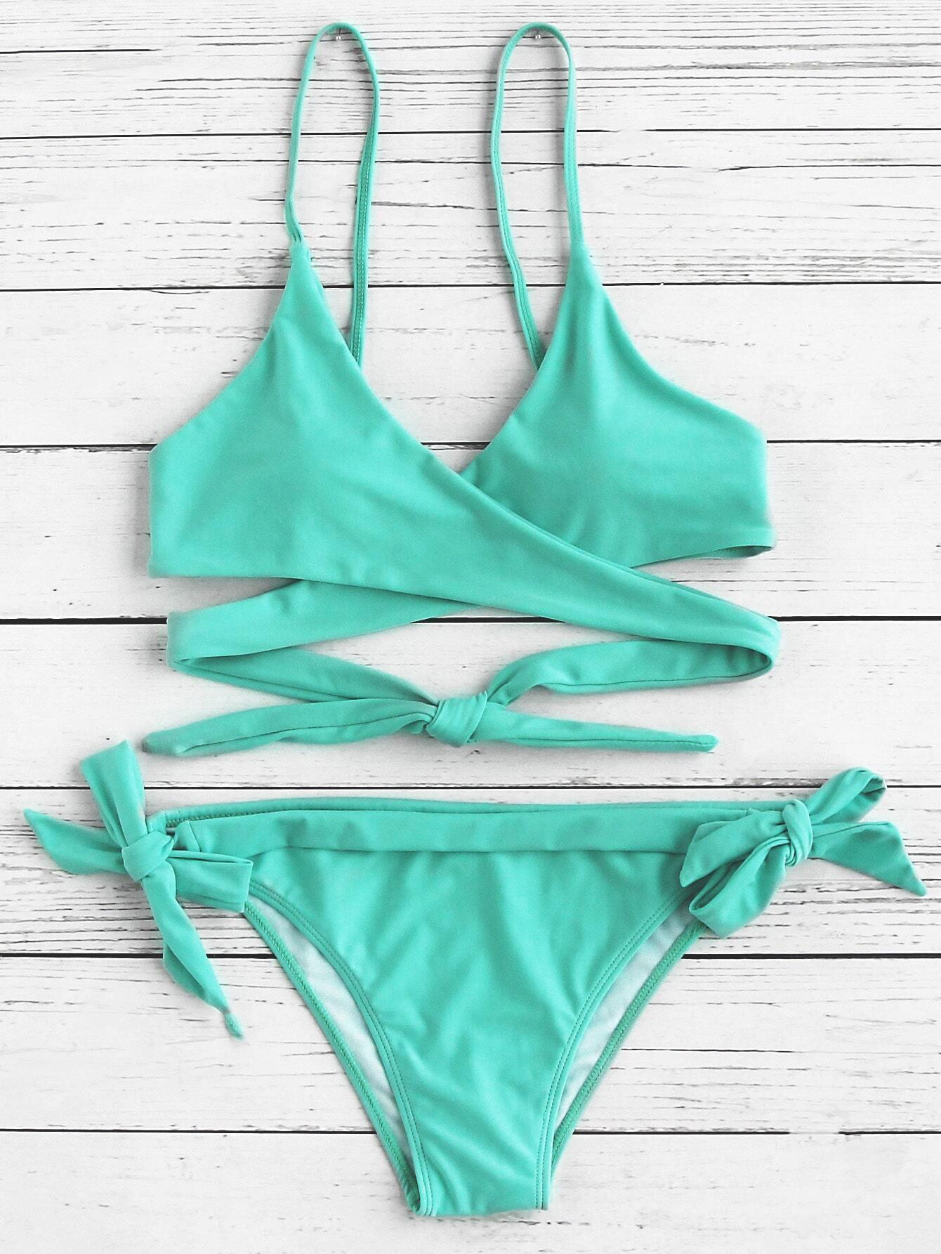 Side Tie Wrap Bikini Set