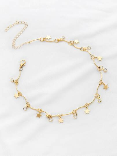 Star Detail Choker Necklace
