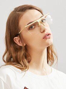 Contrast Frame Clear Lens Glasses