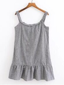 Drop Waist Houndstooth Cami Dress