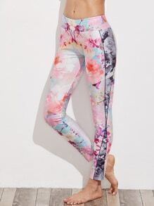 Active Floral Print Leggings