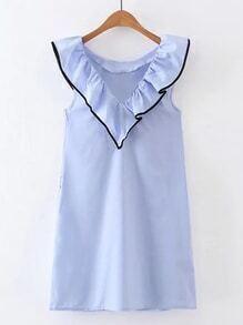 Ruffle Trim Sleeveless Dress