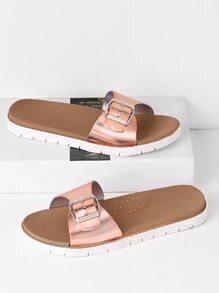 Sandalen mit Schnalle Design und Metall
