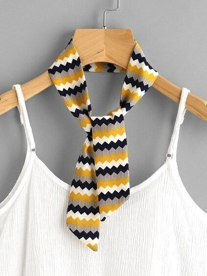 Chevron Print Twilly Scarf