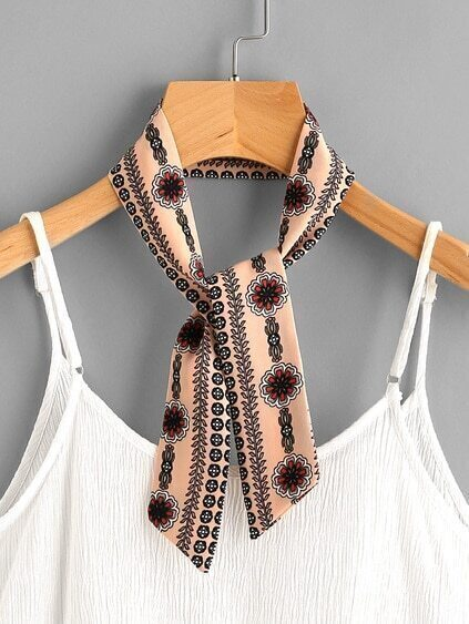 Calico Print Twilly Scarf