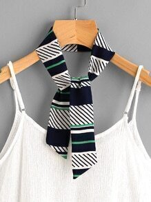 Color Block Twilly Scarf