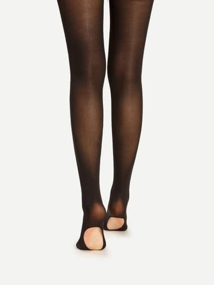 Collants à semelles fines