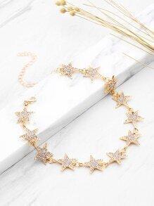 Rhinestone Embellished Star Design Choker