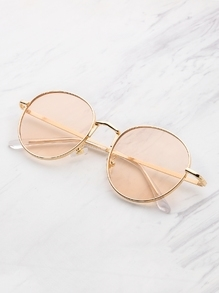 Tinted Flat Lens Sunglasses