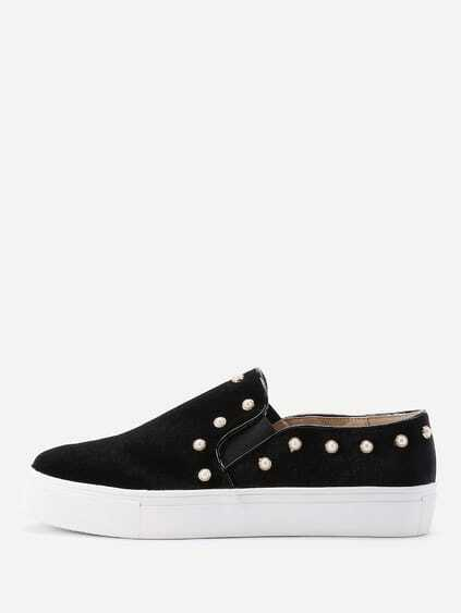 Studded Detail Slip On Plimsolls