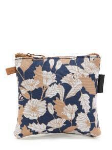 Flower Print Mini Storage Bag