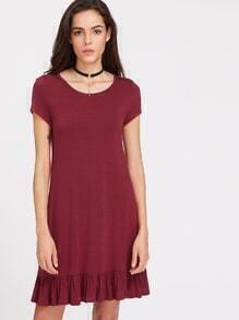 Kleid mit Rüschen Umrandung