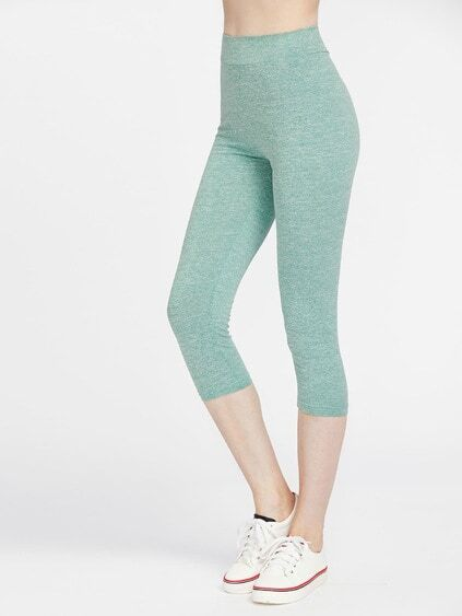 hohe Taille Leggings Shorts