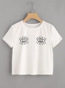 Eye Print Short Sleeve Tee