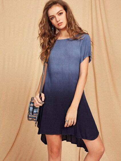Crinkle Swing Ombre Dress