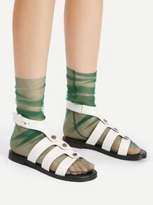 Socken mit Netzstoff