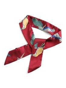 Parrot Print Twilly Scarf