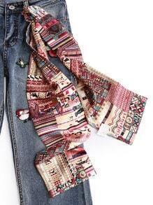 Schmaler Schal mit Grafikmuster
