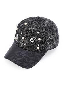 Baseball Kappe mit Kunstperlen und Nagel