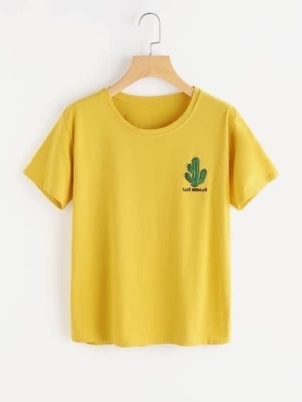 Cactus Embroidered Tee