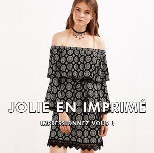 Jolie en imprimé