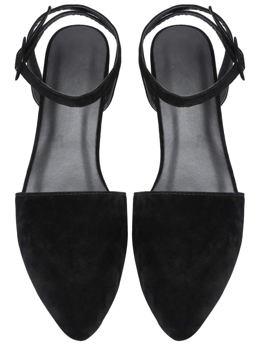 Sandale pointu avec boucle su d e noir french romwe for Acheter maison suede