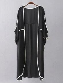 Black Long Cardigan Sheer Kimono