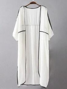 White Long Cardigan Sheer Kimono
