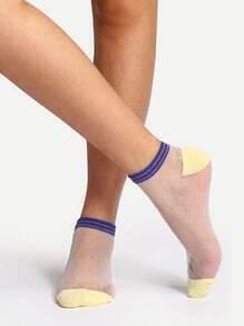 Calcetines transparente tobillo suave