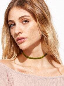 Green Velvet Choker Necklace
