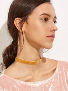 Orange Velvet Slim Choker Necklace