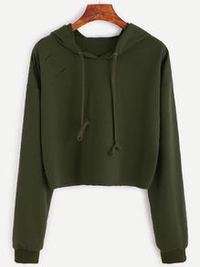 Sweat-shirt avec capuche - vert armée