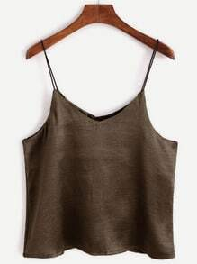 Brown Swing Satin Cami Top