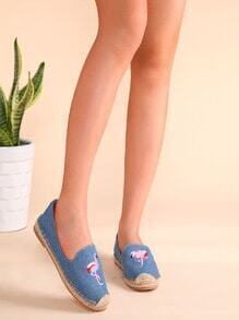 Blue Crane Embroidered Espadrille Plimsolls