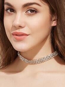 Gold Plated Gem Inlay Choker Necklace