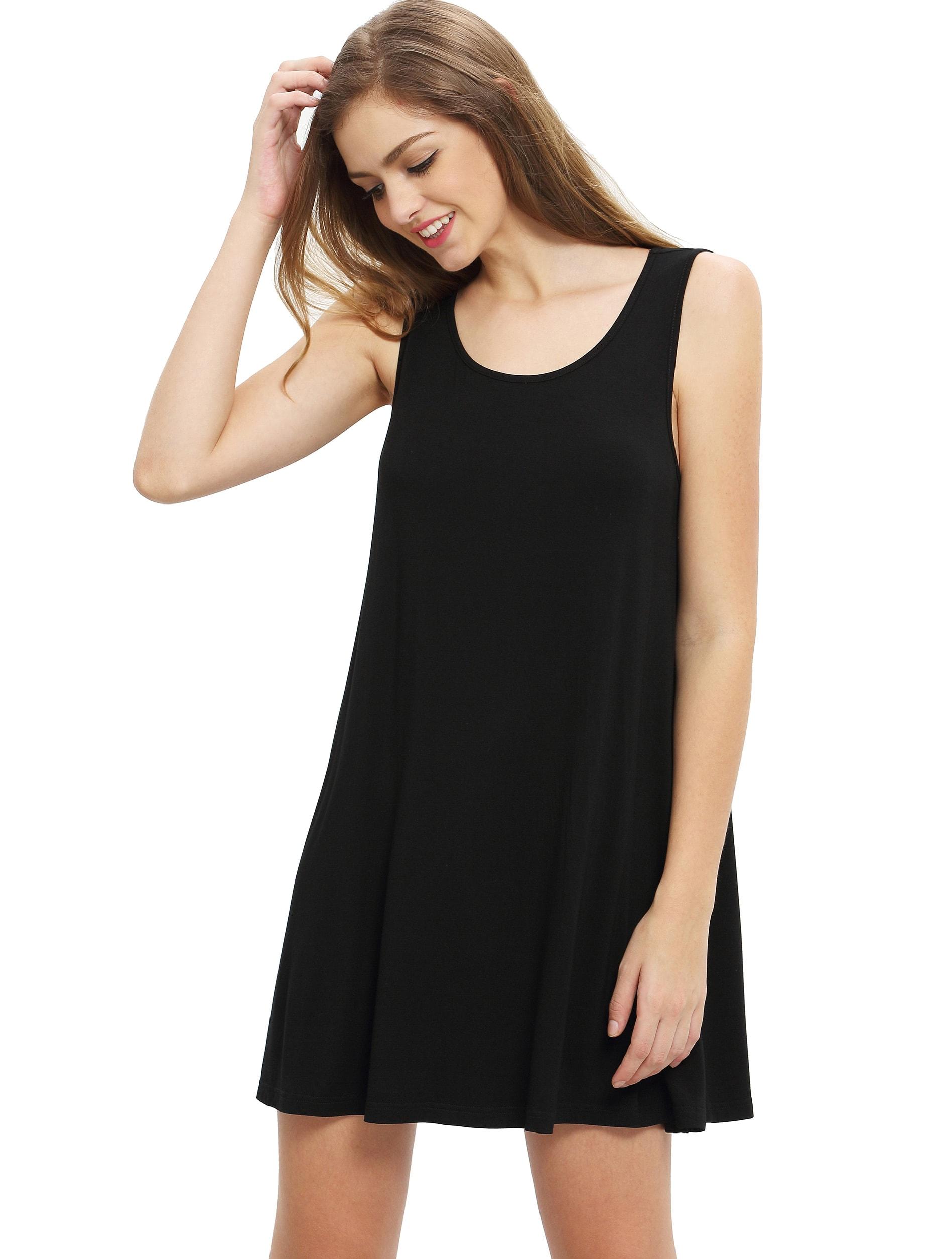 Vestidos negro holgado