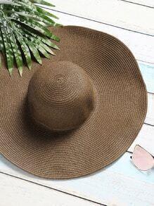 Sombrero con cordón de lazo - café